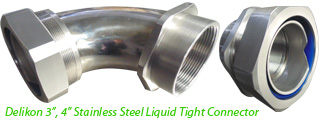 Delikon Stainless Steel Liquid Tight Conduit and Stainless Steel Liquid Tight Connector are widely chosen by water treatment plant, sewage treatment plant, petrochemical plant, Oil & Gas industry, mining industry, food & beverage and pharmaceutical industry, paper industry, offshore industry . . . or applications where better corrosion resistance is required.