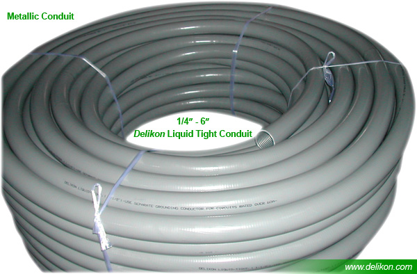 Delikon Liquid Tight Conduit has been designed to excel in many applications
