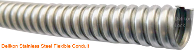 Delikon stainless steel flexible conduit