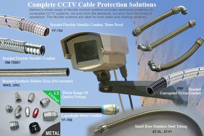 flexible conduit system for complete cctv cable protection solutions rh delikon co Electrical Wiring Metal Studs Outdoor Electrical Wiring