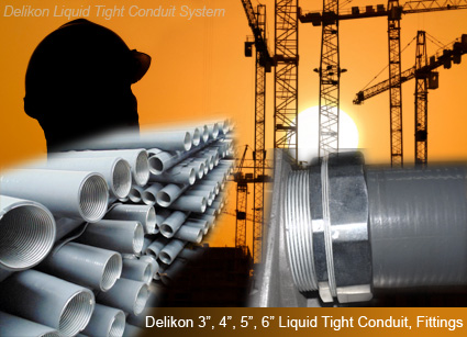 large size metal Liquid Tight Conduit and Fittings for industry,power plant, engineering and construction projects.