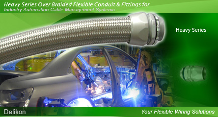 Delikon Electrical Flexible Conduit, Liquid Tight Conduit, Over Braided Flexible Conduit, Stainless Steel Flexible Conduit and Conduit Fittings provide flexible solution to your demanding wiring applications.