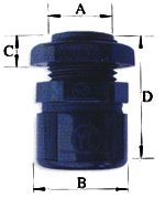 Corrugated Nylon Flexible Conduit Fittings ( Straight Nylon Connector )